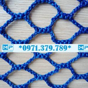 Lưới an toàn công trình xây dựng khổ 4mx50m mắt 5cm xanh dương Blue - Minh Phú Group - Hotline 0971.379.789