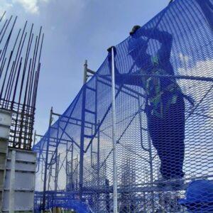 Lưới an toàncông trình xây dựng 4mx50m mắt 2.5 Blue. Đặt hàng 0971.379.789