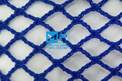 Lưới an toàn công trình xây dựng xanh dương khổ 4mx50m mắt 2.5cm. Đặt hàng Lh 0971.379.789