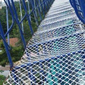 Lưới an toàn dù hứng rơi khổ 1.5mx50m mắt lưới 10cm màu trắng - Minh Phú Group - Hotline 0971.379.789