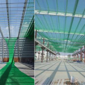 Lưới chống rơi công trình xây dựng khổ 2mx50m Green mắt 2.5cm. Đặt hàng LH 0971.379.789