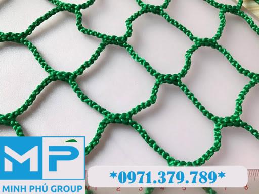 Lưới an toàn công trình xây dựng khổ 4mx50m mắt 5cm xanh lá Green - Minh Phú Group - Hotline 0971.379.789