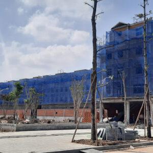 Lưới bao che công trình xây dựng khổ 2mx100m màu xanh dương - Blue - Minh Phú Group - Hotline : 0971.379.789