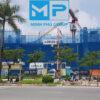 Lưới bao che công trình xây dựng 3mx50m màu xanh dương - Minh Phú Group - Hotline 0971.379.789