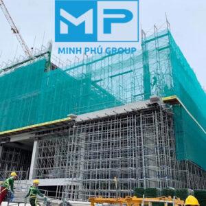 Lưới bao che công trình xây dựng khổ 3mx50m màu xanh lá - Green - Minh Phú Group - Hotline 0971.379.789