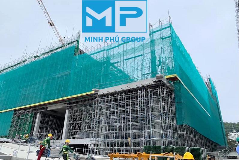 Lưới bao che giàn giáo xanh lá khổ 3mx50m - Minh Phú Group - Mua hàng Lh 0971.379.789