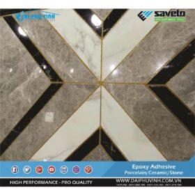 Thi công keo chà ron saveto rất dễ dàng. Đặt hàng keo chà ron Saveto xin liên hệ 0971.379.789